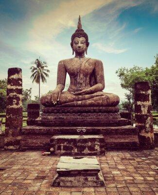 Fototapeta Posąg Buddy ręcznie zamknąć szczegółów