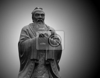 posąg Konfucjusza w świątyni Konfucjusza w Pekinie