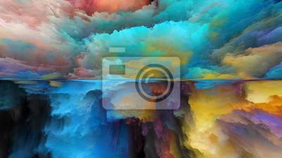 Fototapeta Postęp abstrakcyjnego krajobrazu