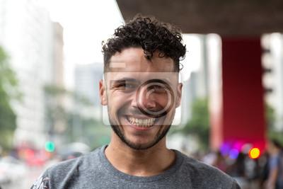 Fototapeta Potrait brazylijski Gay Man Smiling