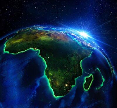 Fototapeta Powierzchnia gruntów w Afryce, noc