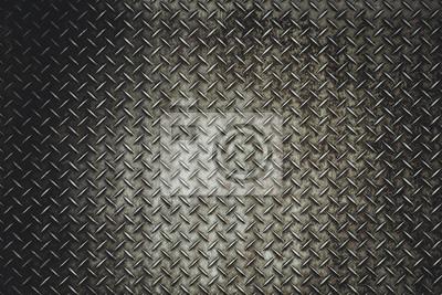 Fototapeta Powrót Grunge blacha stalowa podłoga tła w vitage światła