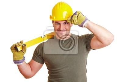 Pozdrowienia pracownik budowlany z poziomu duchowego