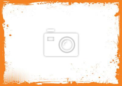 Fototapeta poziome pomarańczowy i czarny Halloween tła, grunge granicy