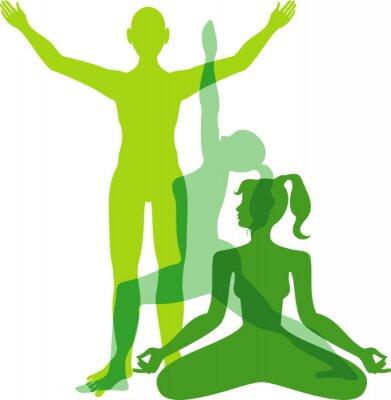Fototapeta Pozycje jogi