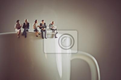 Fototapeta Pracownicy biurowi o przerwę na kawę