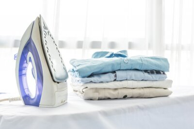 Fototapeta prasowanie, pranie, sprzątanie i obiektów koncepcji