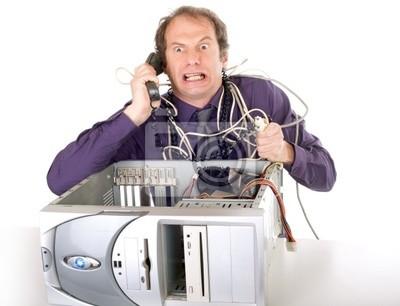 Fototapeta problemy z komputerem, biznesmen