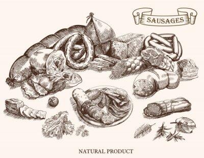 Fototapeta produkty mięsne
