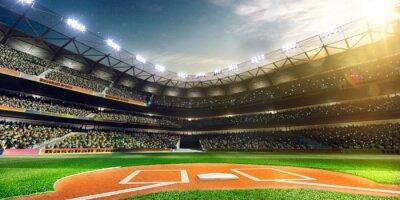 Fototapeta Profesjonalne baseball Grand Arena w słońcu