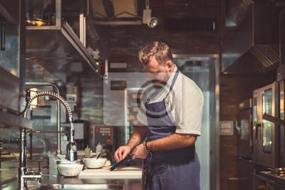 Fototapeta Profesjonalny w kuchni