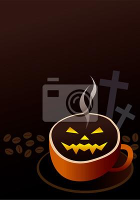Projekt Filiżanka kawy na halloween