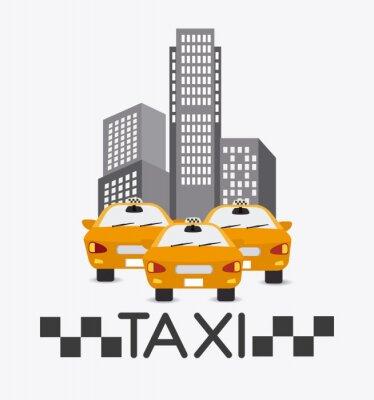 Fototapeta Projekt taksówką.