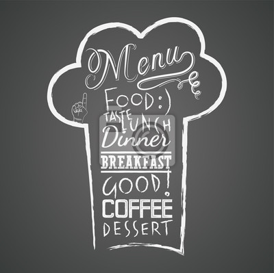 Projektowania menu na tablicy Vector