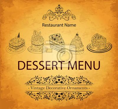 Fototapeta Projektowanie deser menu