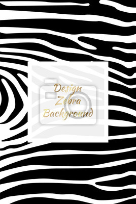 Projektowanie zebry w tle. Druk Zebra, skóra zwierzęca. Plakat, sztandar. Czarno-biała grafika, monochromatyczna. Tło mody.