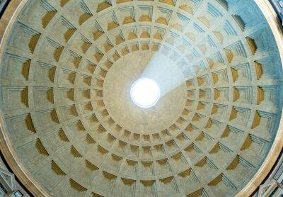 Fototapeta Promień światła słynny Panteon w Rzymie