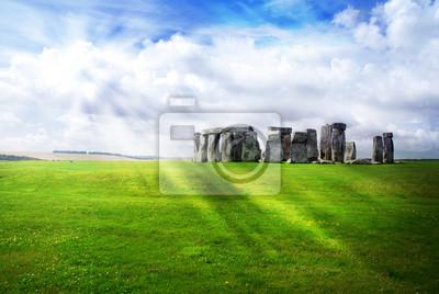 Fototapeta Promienie słońca nad Stonehenge