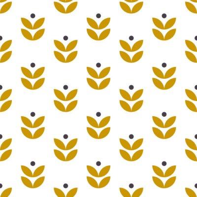 Prosty wzór geometryczny w stylu skandynawskim. Motyw kwiatowy w stylu retro. Tapeta wektor