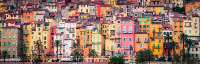 Fototapeta Provence kolorowe domy wsi, Menton
