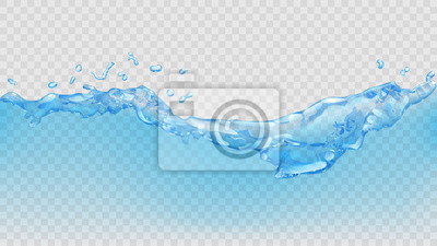 Fototapeta Przejrzysta woda. Przejrzystość tylko w pliku wektorowego