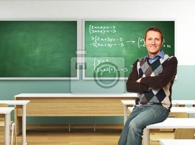 Fototapeta przekonany, nauczyciel