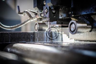 Fototapeta Przemysłowe urządzenie do cięcia aluminium i tytanu.