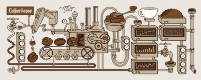 Fototapeta Przenośnik roślin z produkcji kawy