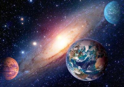 Fototapeta Przestrzeń planeta Droga Mleczna Ziemia Mars wszechświat astronomia układ słoneczny astrologia. Elementy tego zdjęcia dostarczone przez NASA.
