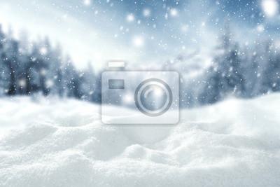 Fototapeta Przestrzeń zima śnieg