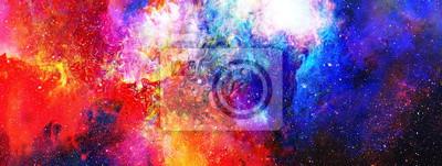 Fototapeta Przestrzeni kosmicznej i gwiazd, kolor kosmiczne streszczenie tle.