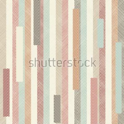 Fototapeta Przetwarza kolorowy pasiasty wzór. Niekończący się wzór może być używany do płytek ceramicznych, tapet, linoleum, tkanin, tła stron internetowych.