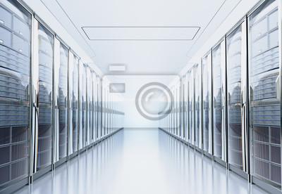 Fototapeta Przetwarzanie serwera na serwerach lub serwerach.