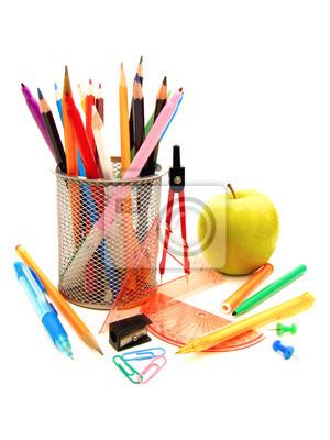 d715b44b1286d Fototapeta przybory szkolne na wymiar • papier