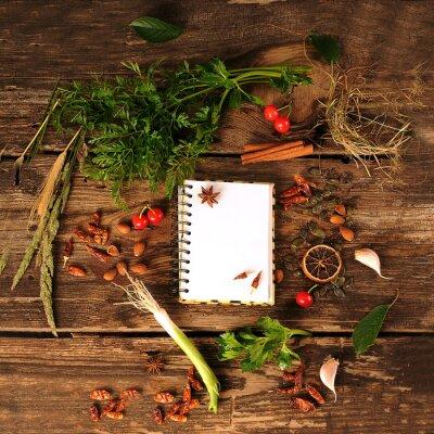Fototapeta Przyprawy i zioła w Kuchni