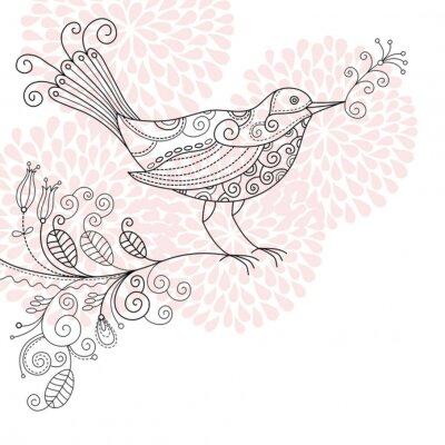 Ptak na gałązce