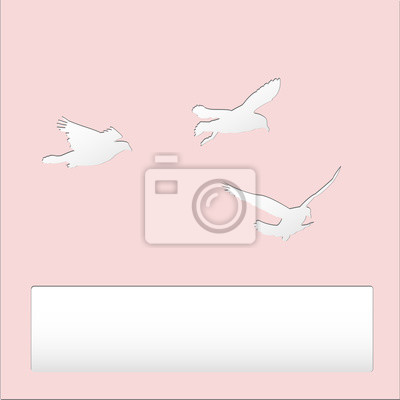 Fototapeta Ptak Latający Na Niebie Ptaków Wycinanka Papieru