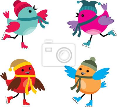 Ptaki na łyżwach