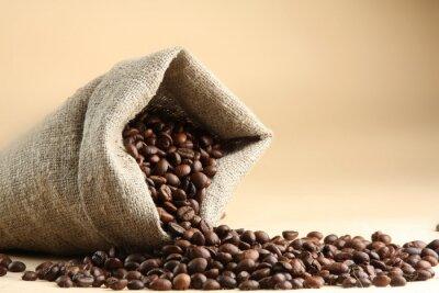 Fototapeta Puchar z kawy na ziarna kawy