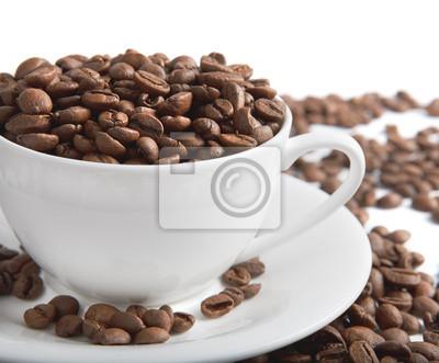 Puchar z ziaren kawy