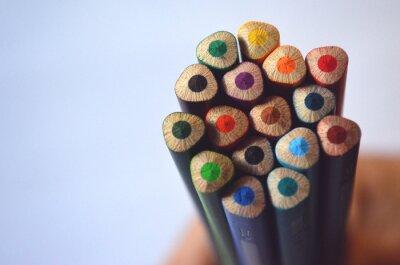 Fototapeta Puñado de lápices de colores acuarelables