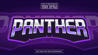 Fototapeta Purple Panther E-sport Gaming Logo Editable Text Effect