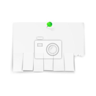 Fototapeta Pusta reklama z odcinków ciętych na białym tle. Ilustracji wektorowych.