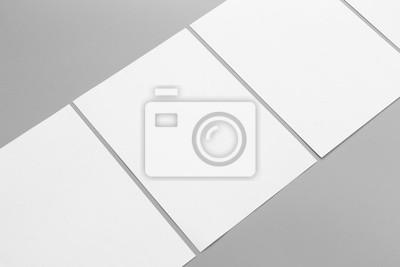 Fototapeta Puste A4 pionowo. Magazyn broszura samodzielnie na szarym tle, zmienny / białego papieru samodzielnie na szary