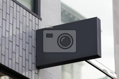 Fototapeta Puste miejsce znak na zewnątrz sklepu lub restauraci z kopii przestrzenią
