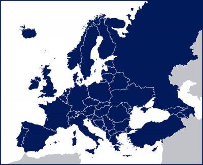 Fototapeta Pusty Mapa polityczna Europy
