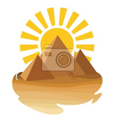Pustynia z piramidą