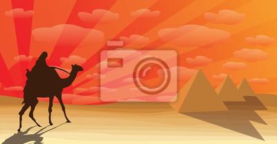 Pustynia z piramidy