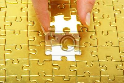puzzle złoto