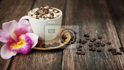 Pyszna kawa z czekoladą